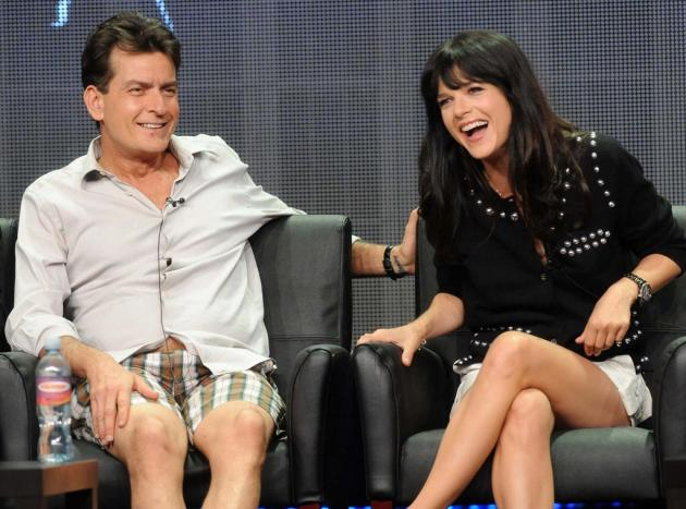 Charlie Sheen and Selma Blair Photo