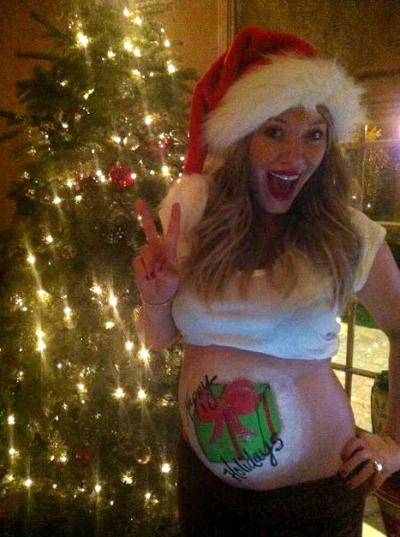 Hilary Duff Pregnant Photo