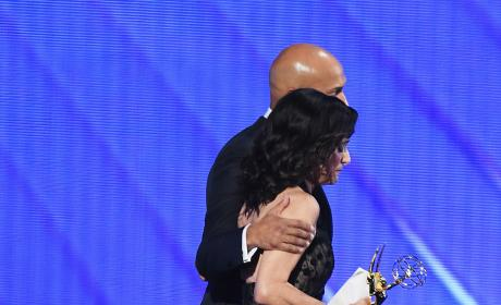 Keegan-Michael Key Julian Louis-Dreyfus Emmy Awards Stage 2016
