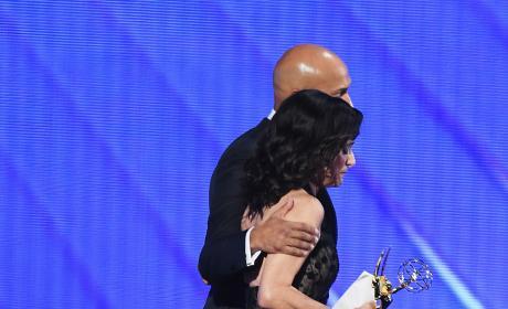 Keegan-Michael Key Julian Louis-Dreyfus Emmy Awards Stage 2016