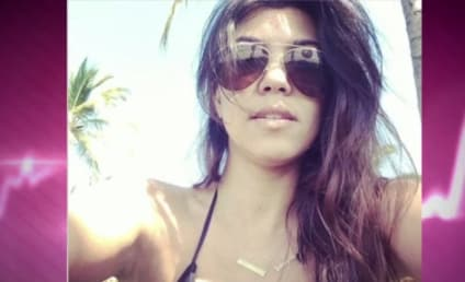 Kourtney Kardashian Posts Sexy Selfie: Major Cleavage Alert!