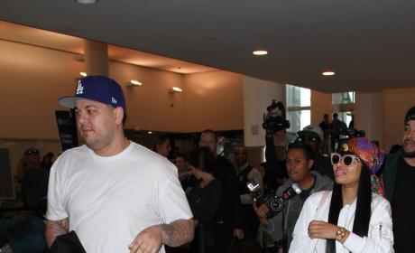 Rob Kardashian and Blac Chyna: LAX