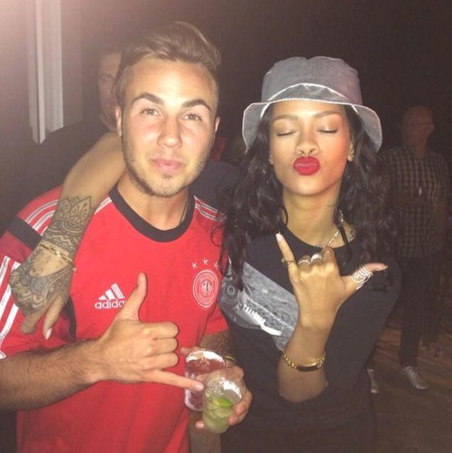 Rihanna celebrates victory