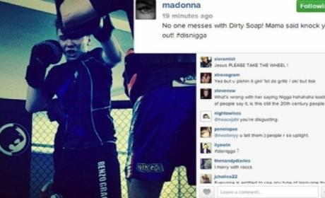 Madonna Drops N-Bomb in Reference to Son, Tells Haters: Get Off My D--k!
