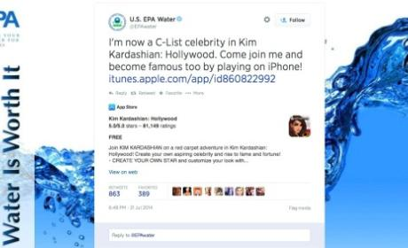 EPA Tweets Involvement in Kim Kardashian Video Game, Leaves Universe Confused