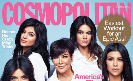 Kardashians and Jenners Cover Cosmo