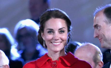 Kate Middleton Wears Red Zara Coat To Royal Windsor Horse Show