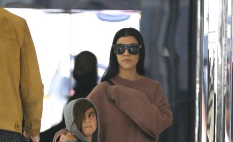 Kourtney Kardashian Shops at Saint Laurent