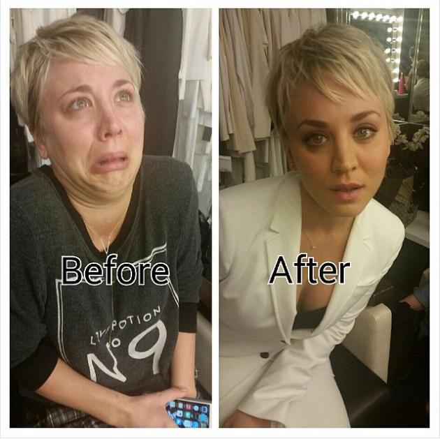 kaley cuoco makeup free and hilarious on instagram the hollywood gossip. Black Bedroom Furniture Sets. Home Design Ideas