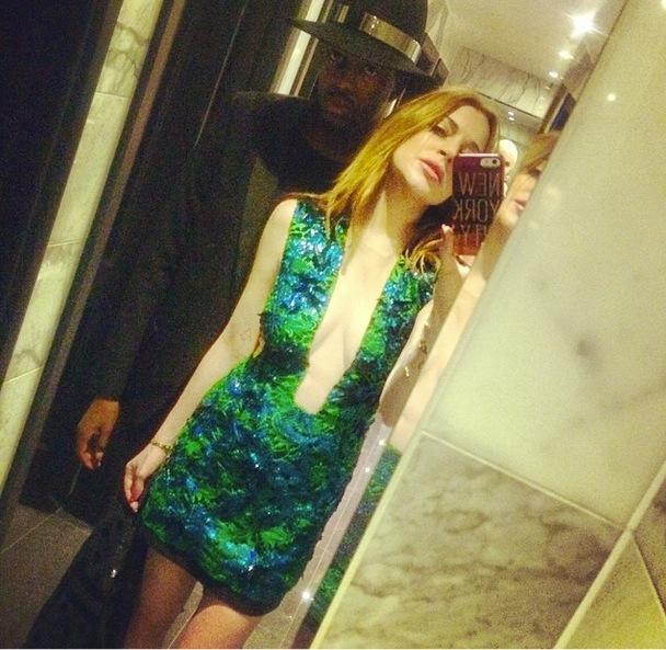 Lindsay Lohan London Selfie