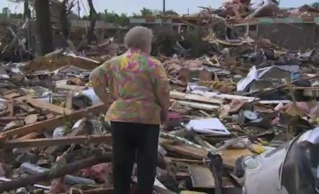 Tornado Survivor Finds Dog Alive Under Debris During Live TV Interview