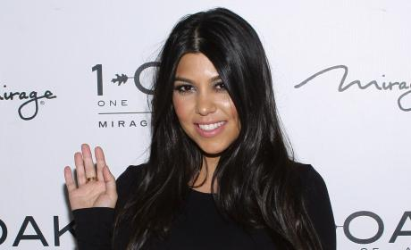 Kourtney Kardashian Waving