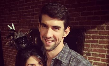 Nicole Johnson with Michael Phelps