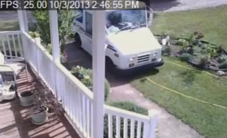 Laziest Delivery Driver Ever: Caught on Video!