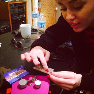 Miley Cyrus Joint Rolling