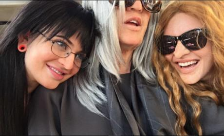 Kylie Jenner, Khloe Kardashian and Kendall Jenner in disguise