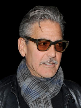 George Clooney with a Mustache