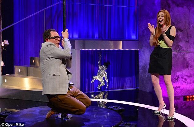 Lindsay Lohan Pole Dancing Photo