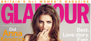 Anna Kendrick Glamour UK Cover