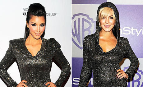 Celebrity Fashion Face-Off: Kim Kardashian vs. Lindsay Lohan