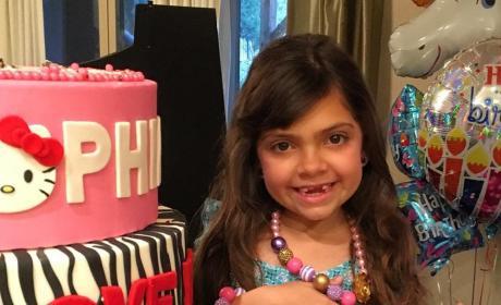 Sophia Abraham Shows off Her Birthday Jewelry