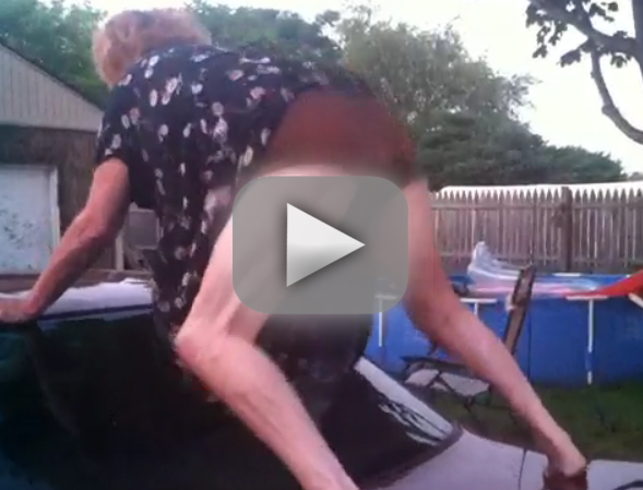 Grandma Twerking on Car