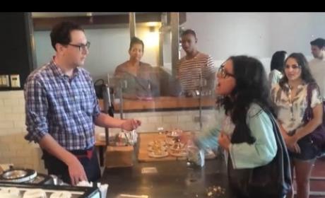 Julia Louis-Dreyfus Coffee Shop Meltdown: Staged on Jimmy Kimmel Live!