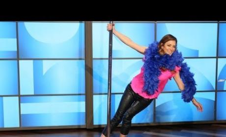 Kate Walsh: Pole Dancing on Ellen
