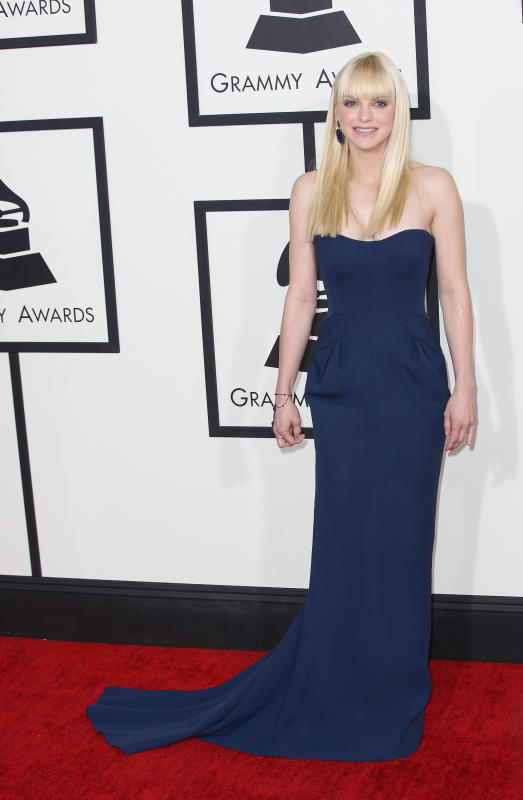 Anna Faris at the Grammys