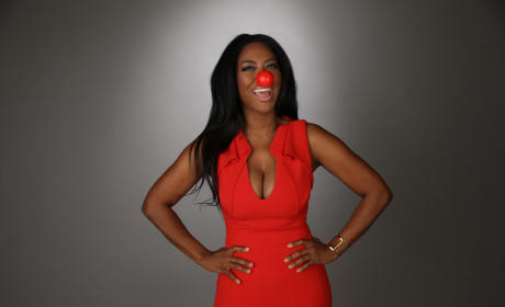 Kenya Moore Red Nose Photo