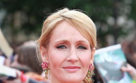 J.K. Rowling at London Premiere