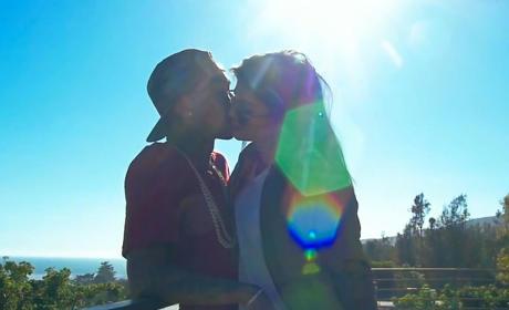 Kylie and Tyga Kiss