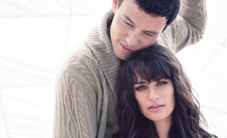 Lea Michele and Cory Monteith Remain Clothed, Dish on Success of Glee