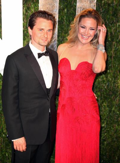 Matthew Bellamy and Kate Hudson