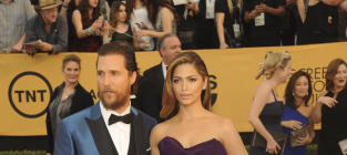 Matthew McConaughey and Camila Alves at the SAG Awards