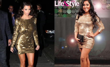Kim Kardashian Kind of Kalls Out Jersey Shore's Snooki