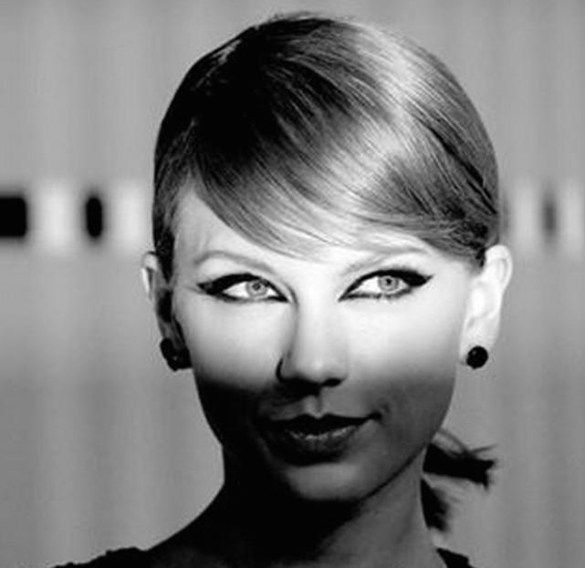 Taylor Swift in Black and White