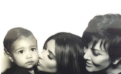 Kim Kardashian, Kris Jenner and North West