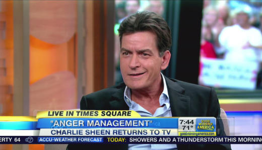 Charlie Sheen on GMA