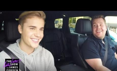 Justin Bieber Sings Carpool Karaoke with James Corden