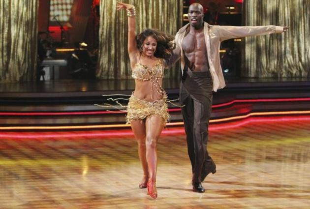 Chad Ochocinco and Cheryl Burke Dancing