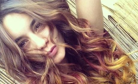 Vanessa Hudgens Falls Into New Hair Color