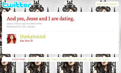 Kat Von D Confirms She's Dating Jesse James, Pointlessly Deletes Tweet Hours Later
