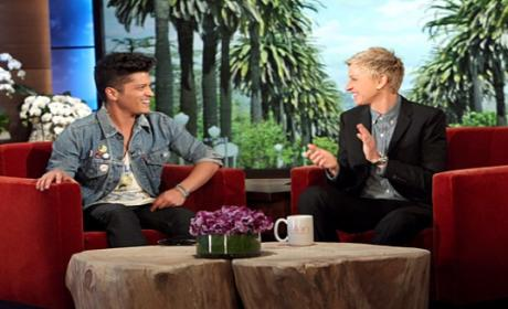 "Bruno Mars Responds to ""Disgusting"" Critic, Gives Inspirational Speech on Ellen"