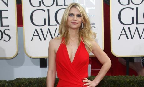 Claire Danes at the Golden Globes