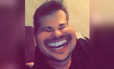 Rob Kardashian Laughs Through Crazy Snapchat Filter