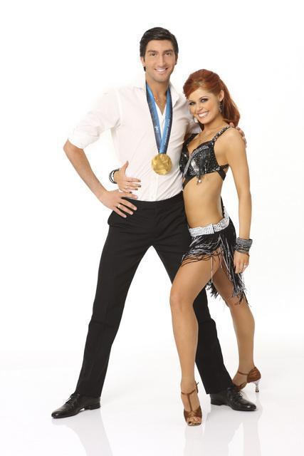 Evan Lysacek and Anna Trebunskaya