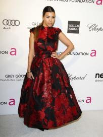 Kourtney Kardashian at Elton's