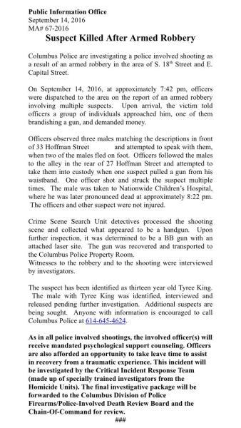 police statement