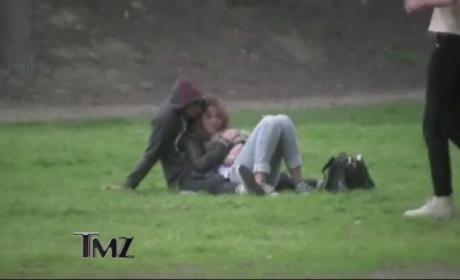 Miley Cyrus and Josh Bowman Snuggling